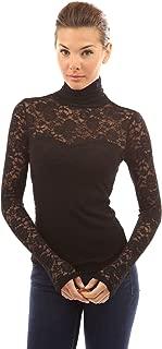 Best black lace turtleneck blouse Reviews