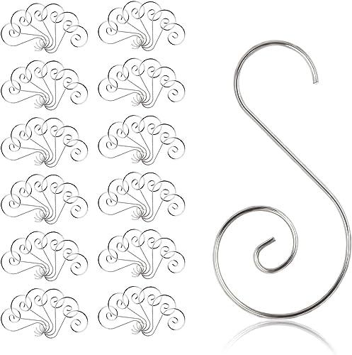 KAKOO Ornament Hooks, 100pcs Silver Christmas S-Shaped Hooks Ornament Hangers for Party Christmas Balls Christmas Tre...