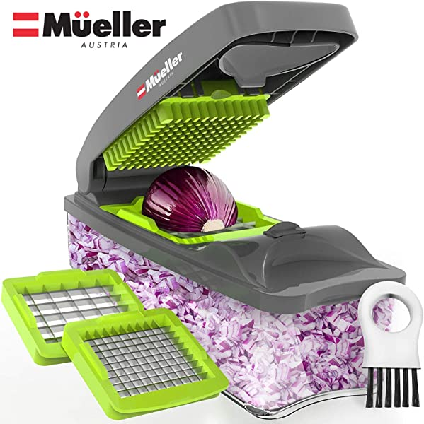 Mueller Onion Chopper Pro Vegetable Chopper Strongest NO MORE TEARS 30 Heavier Duty Multi Vegetable Fruit Cheese Onion Chopper Dicer Kitchen Cutter