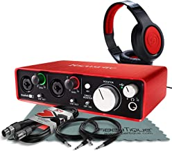 Focusrite Scarlett 2i2 (2nd Gen) USB Audio Interface W/ Cables + Samson Headphone and FiberTique Cleaning Cloth