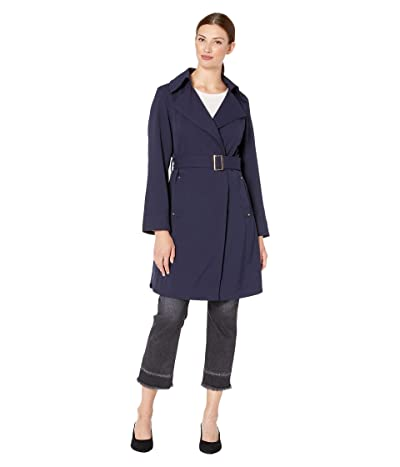 Vince Camuto Belted Trench V19722 (Navy) Women