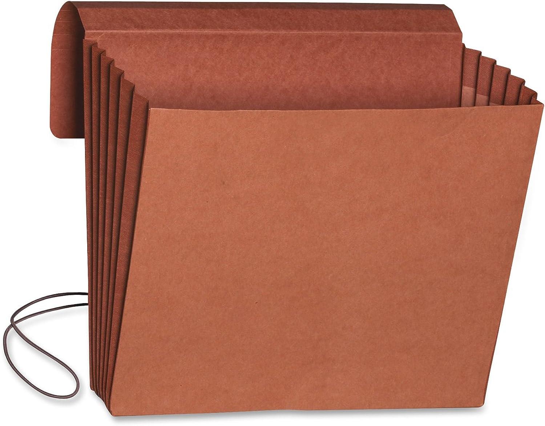 SMEAD Expansion Wallet, Elastic Closure, Tyvek gefüttert Zwickel, rotrope, 10Stück pro Box 5-1 4 Inch Expansion Letter rotrope
