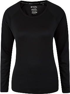 Mountain Warehouse Endurance, Maglietta da Donna - Leggera, Estiva, a Maniche Lunghe, ad Asciugatura Rapida, con Protezion...