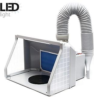 Equipo extractor aerografía 9m³/min Iluminación LED Ventilador doble Regulable Interruptor 2 niveles