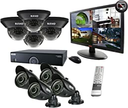 REVO America R165D4GB4GM21-2T 16 Channel 2TB 960H DVR Surveillance System with 8 700TVL 100-Feet Night Vision Cameras and 21.5-Inch Monitor (Black)