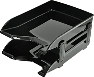 FIS Executive Office Trays Set of 2 Trays, Black Color, Suitable for A4 Documents - FSOT02BK