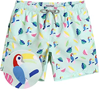 MaaMgic Mens Short Swim Trunks Colorful Swim Shorts Bathing Suits for Vacation