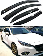 Cuztom Tuning JDM 3D Style Smoked Window Visor Vent Shade for 2014-2018 Mazda 3 MAZDA3