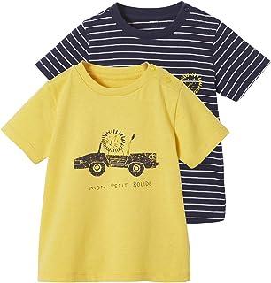 VERTBAUDET Lot de 2 T-shirts bébé garçon Animaux