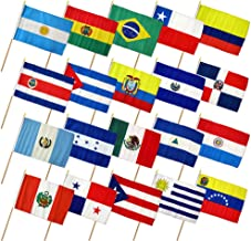latin american flags collage