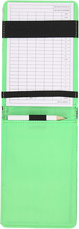 Golf Scorecard Holder Score Book Durable with Pen Accessories fo
