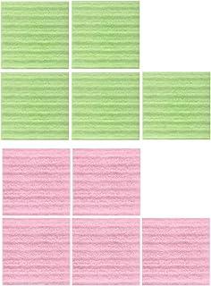 サンコー 油汚れ落とし スポンジ キッチン用品 ピンクグリーン 8×8cm BL-98
