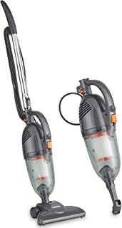 VonHaus Gray 2 in 1 Corded Lightweight Stick Vacuum and Handheld Vacuum Cleaner Bagless with HEPA Filtration, Crevice Tool...