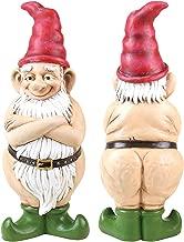 Exhart Naked Gnome Garden Statue, Resin Statue Outdoor Garden Décor 5