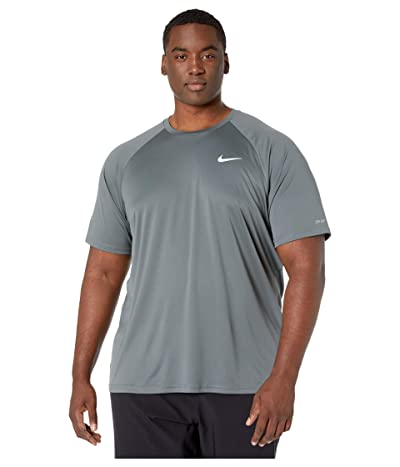 Nike Big Tall Essential Short Sleeve Hydroguard (Iron Grey) Men