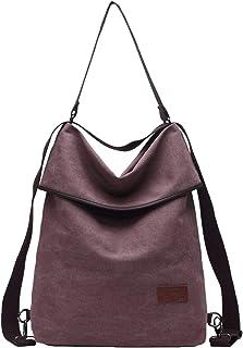 Travistar Damen Canvas Schultertasche Rucksack Groß Handtasche Vintage Damen umhängetasche Anti Diebstahl Tasche Damen Hob...