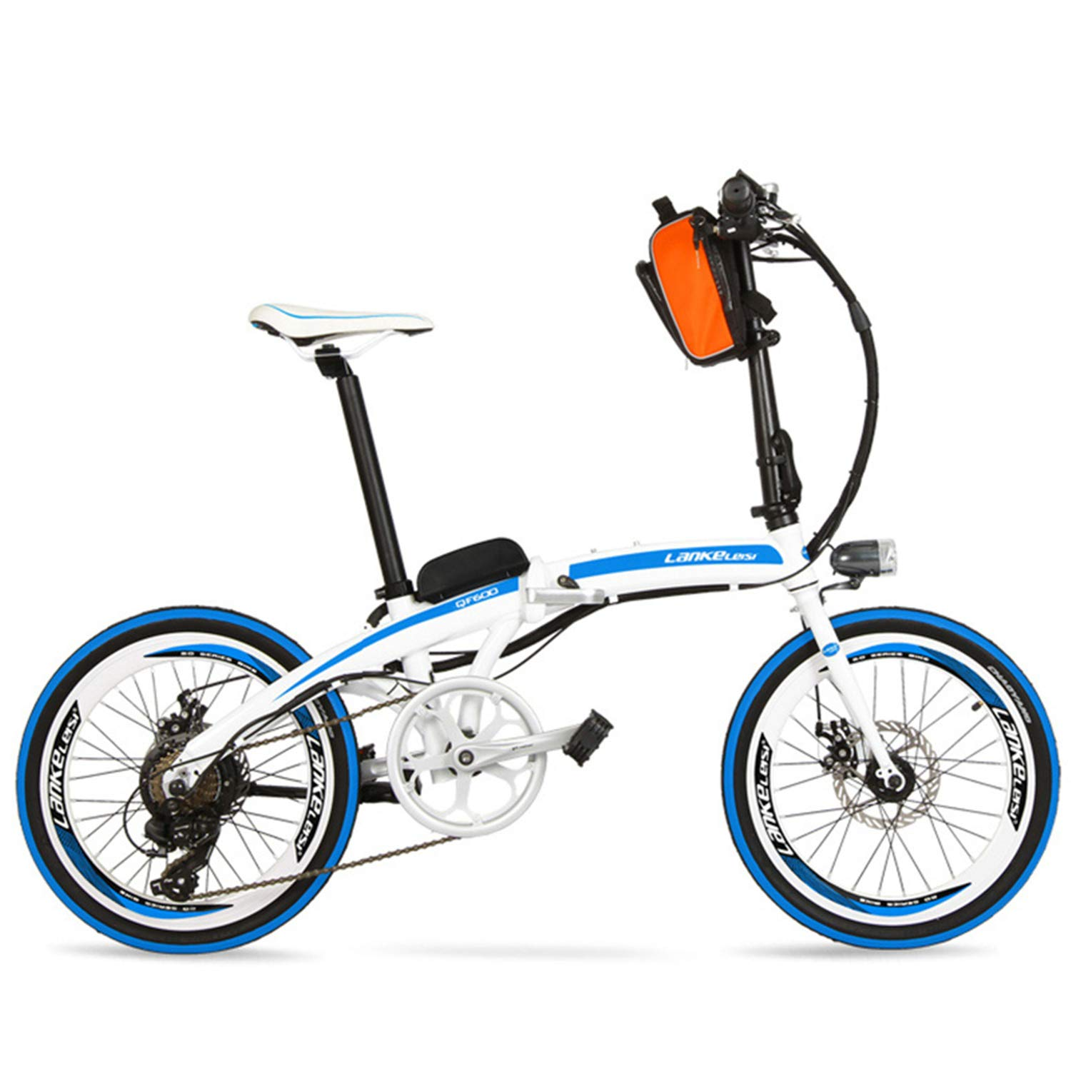 LANKELEISI QF600 Elite Big Powerful Portable 20 Pulgadas Bicicleta ...