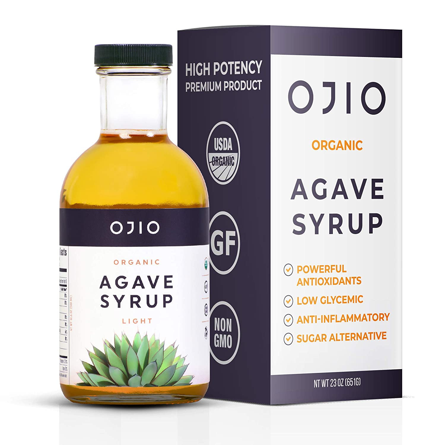 OJIO Organic Raw Light Agave Nectar 35% OFF Pure 16.9oz. 100% Cheap mail order specialty store