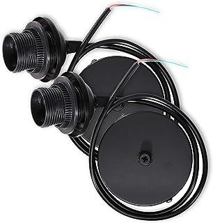 kwmobile 2x câble électrique pour lampe - Câble avec douille E27 et bague de fixation - Monture de suspension pour luminai...