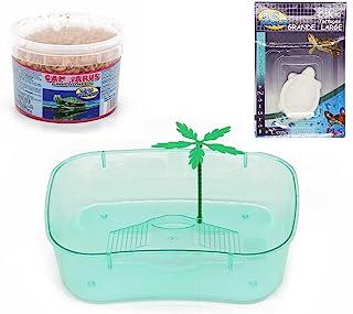 BPS® Pack Tortuguera Isla Grande para Tortugas Acuaterrario con Bloque de Calcio y Alimento Comida para Tortugas Colores se envian al Azar BPS-88510*1