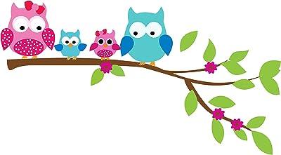 Creatick Studio Owl Family Wall Sticker 50cm x 91cm