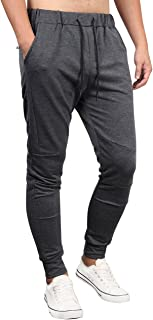 Kuulee Men's Athletics Joggers Pants Slim Fit Gym Workout Running Sweatpants with Zipper Pockets