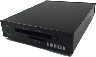 DIGIGEAR ATA Flash PCMCIA PC Card & SD/SDHC/SDXC USB 3.0 Industrial Grade Reader