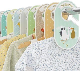 Séparateurs de penderie pour bébé COZY HEDGEHOG - 18 organisateurs/séparateurs de penderie - Rangez les vêtements de bébé ...