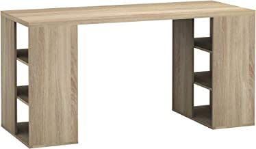 Bloc Office Home Computer Writing Study Student Desk with Storage Shelves - Light Sonoma Oak