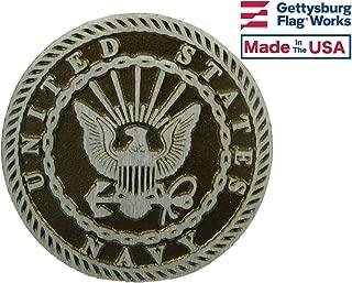 Gettysburg Flag Works Aluminum Grave Marker Navy, Cemetery Memorial Flag Holder, Veteran Plaque, Made In USA