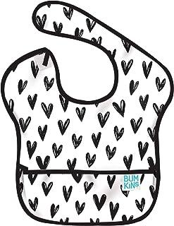 Bumkins バンキンス 油が落ちるスタイ【日本正規品】スーパービブ 柔らかくて軽量 洗濯機で洗えてすぐ乾く お食事用防水ビブ 6~24ヶ月 Hearts(ホワイト) BM-S10