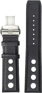 Tissot Leather Calfskin Black Watch Strap, 22mm Width (Model: T600038130)