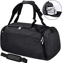 NEWHEY Sporttasche Männer Reisetasche mit Schuhfach Gym Fitness Tasche mit Rucksack-Funktion 40 Liter Handgepäck Weekender Groß für Herren und Frauen