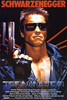 (24x36) Terminator Movie Arnold Schwarzenegger with Gun 80s Poster Print