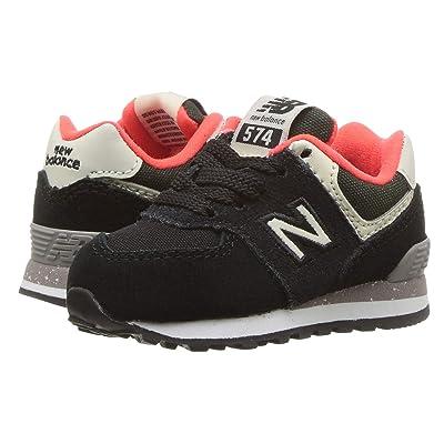 New Balance Kids IC574v1 (Infant/Toddler) (Black/Flame) Boys Shoes