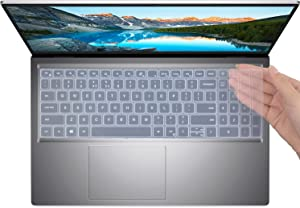 Keyboard Cover for New Dell Inspiron 15 5000 Model 5510 5515 5518 Laptop, Inspiron 16 7610, Latitude 3520 Laptop Accessories Protective Cover Skin (Not Fit Dell G5 G15) -Clear
