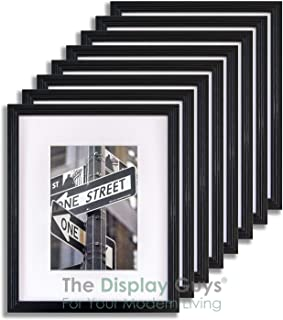 TheDisplayGuys 8-Pack Art Deco 5×7 Picture Frames matted to 4×6 with Plexiglass..