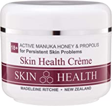 Madeleine Ritchie New Zealand 18+ Active Manuka Honey & Propolis Skin Health Creme for healing of persistent skin problems 3.4 fl. oz. Excellent for Eczema, Psoriasis, Dermatitis, Acne and Dry Skin.