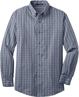 Port Authority Tall Tattersall Easy Care Shirt. TLS642