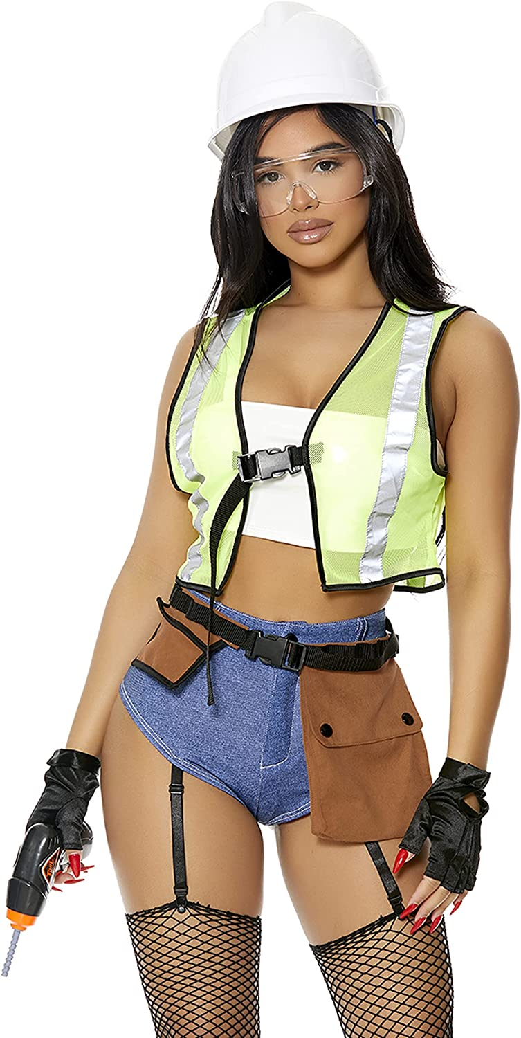 Forplay Womens Under Louisville-Jefferson Selling and selling County Mall Construction Sexy Worker Costu