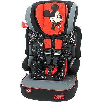 Groupe 1//2//3 Mycarsit Si/ège Auto Disney de 9 /à/36 kg Motif Mickey