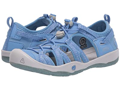 Keen Kids Moxie Sandal (Little Kid/Big Kid) (Della Blue/Vapor) Girl