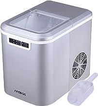 Arebos Machine à glaçons | Cuillère à Glaçons et Panier | 2,2L | Icemaker Machine à glace 12KG | en 24h