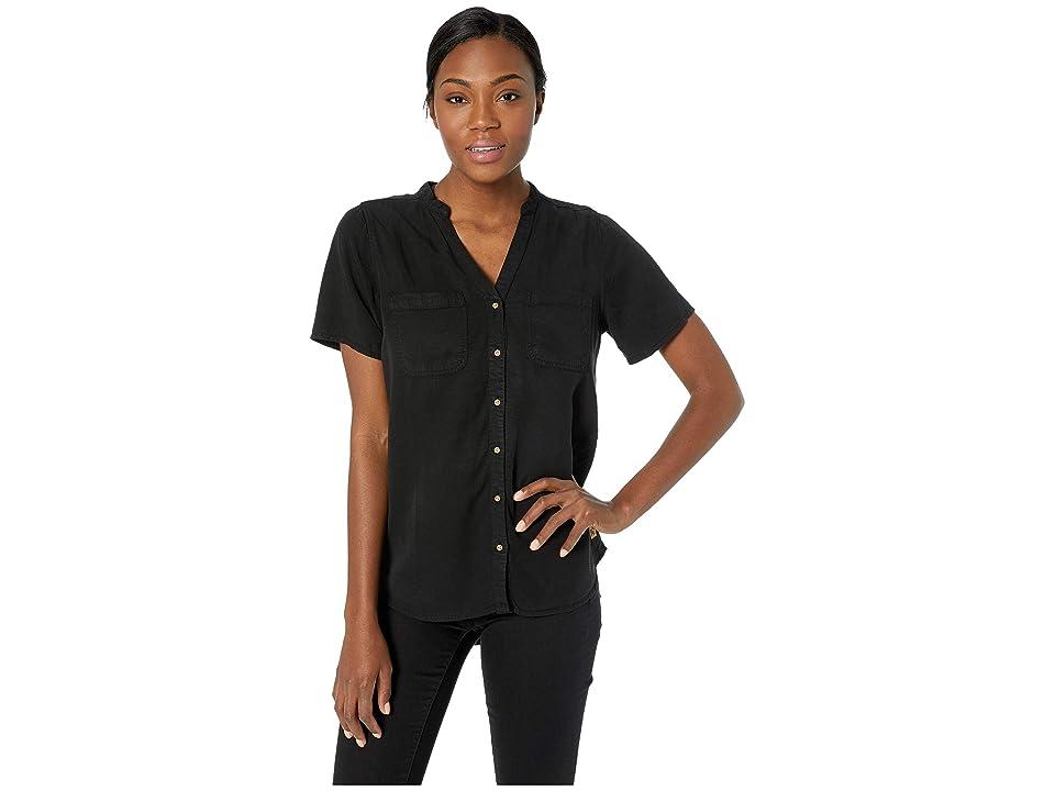 tentree Pecan Short Sleeve Button Up (Meteorite) Women