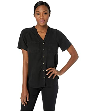 tentree Pecan Short Sleeve Button Up (Meteorite) Women