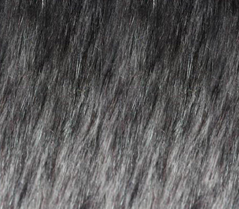 Deluxe Faux Fake Animal Fur Fabric Long New Shipping Free Grey Alaskan Pile 58