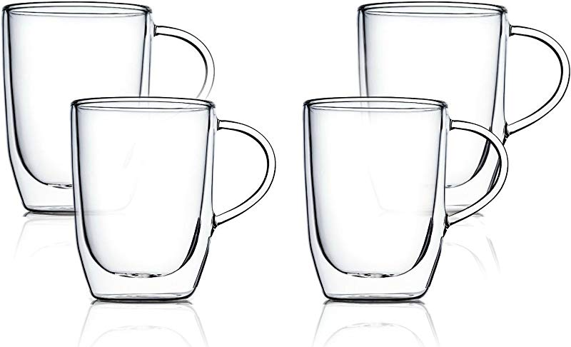 Home Fashions Double Wall Insulated Glasses Set Of 4 10oz Set 4