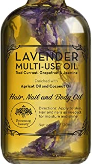 Lavender Multi-Use Oil for Face, Body and Hair - Organic Blend of Apricot, Vitamin E, Fractionated Coocnut ...
