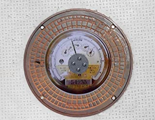 Rusty Street Cover Jewelry (Meter)  - The Jewelry Infrastructure Collection - 14 x 14