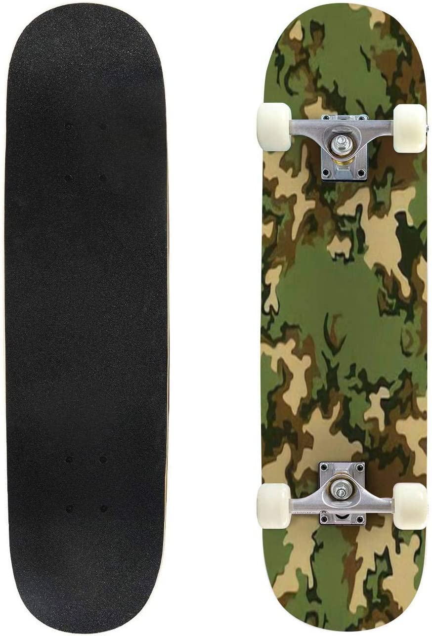 Classic Concave Skateboard Inexpensive Cheap bargain Camouflage Pattern A Texture Seamless